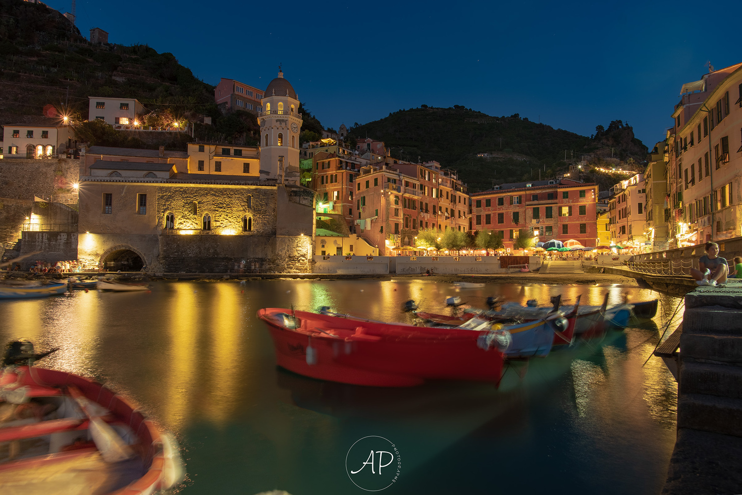 Vernazza blue hour by ANGELO PERRONE