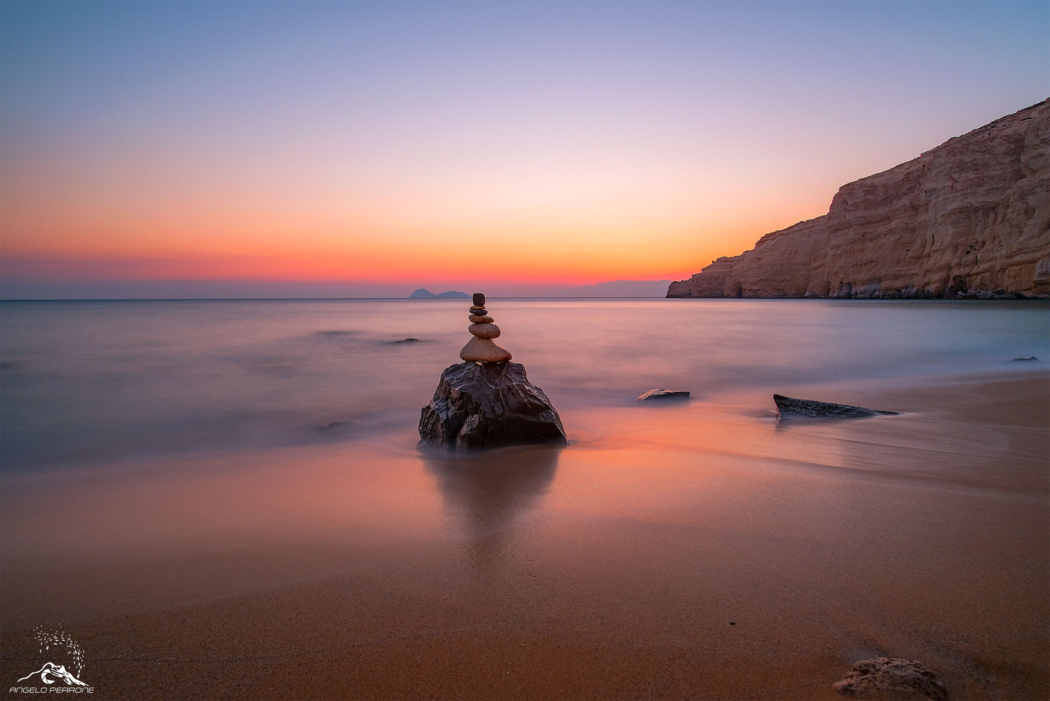 Sunset of Matala by ANGELO PERRONE