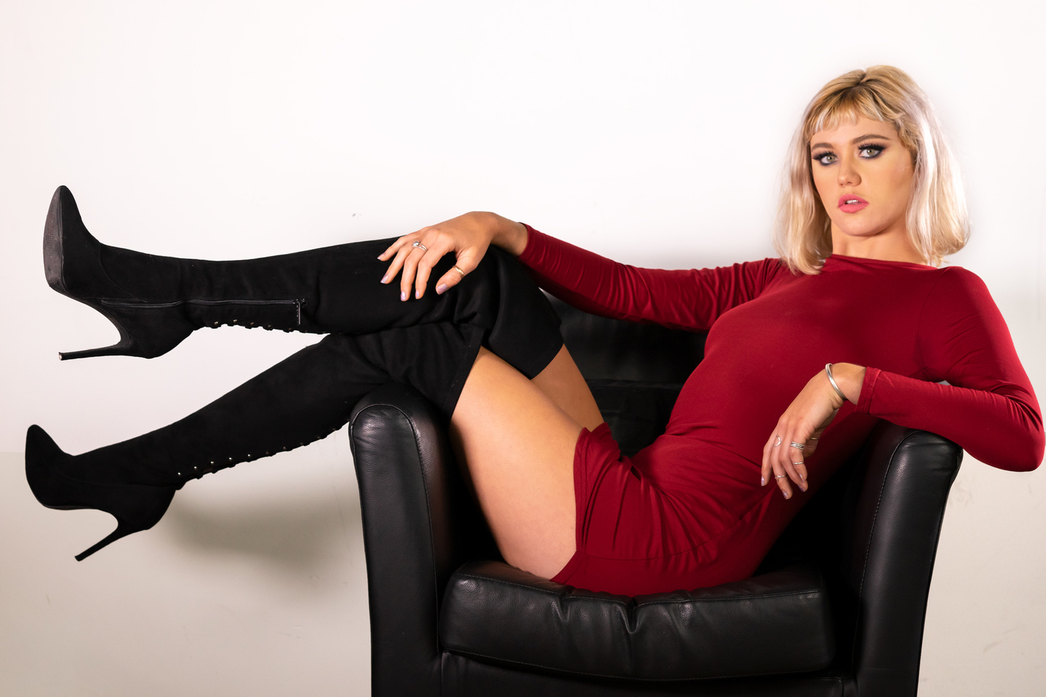 """Fashionable Blonde in Boots by C.R. """"Kroy"""" B"""