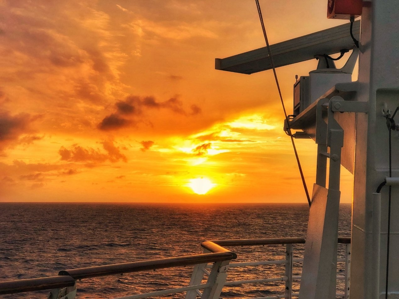 Cruising towards the Sunset by Al Perreault