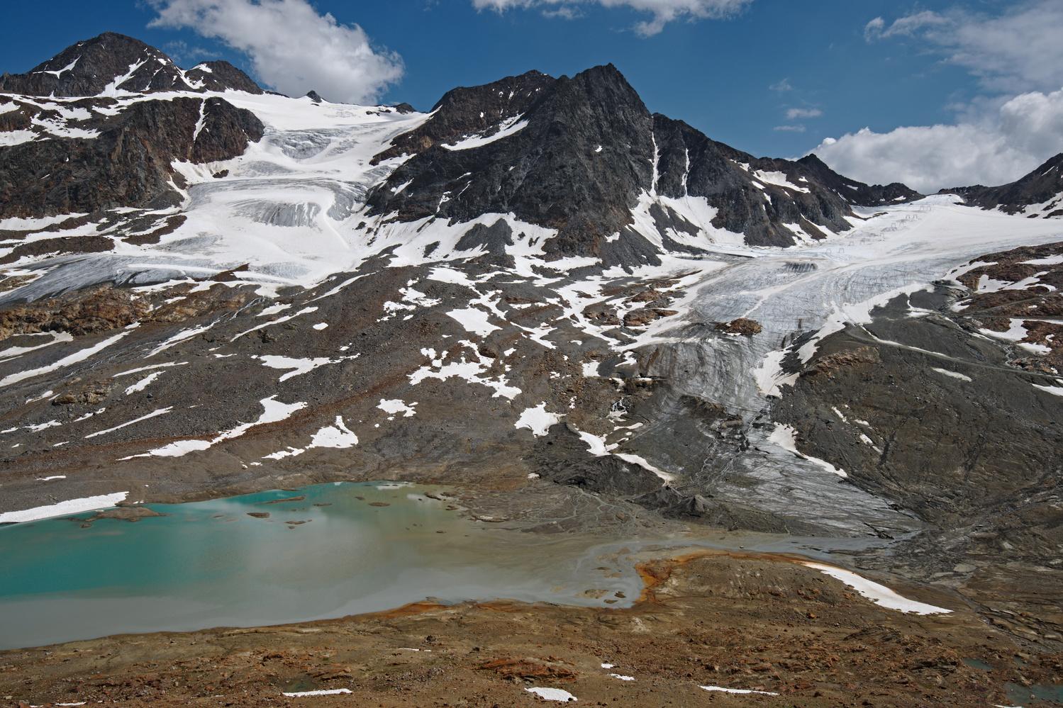 The glacier retreat by Giulio Roman