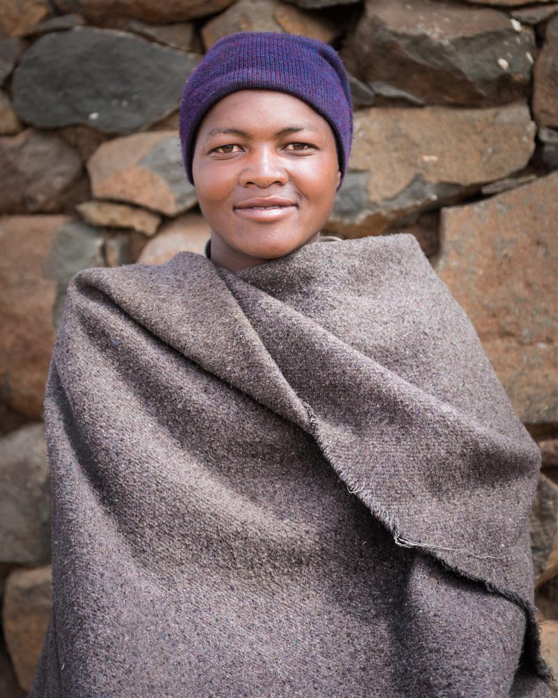 Basotho lady ... Lesotho by David Mitchell