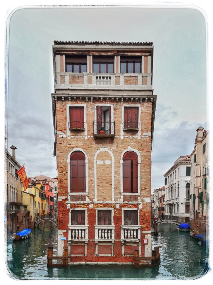 House in the middle of a canal by Susan Leonard