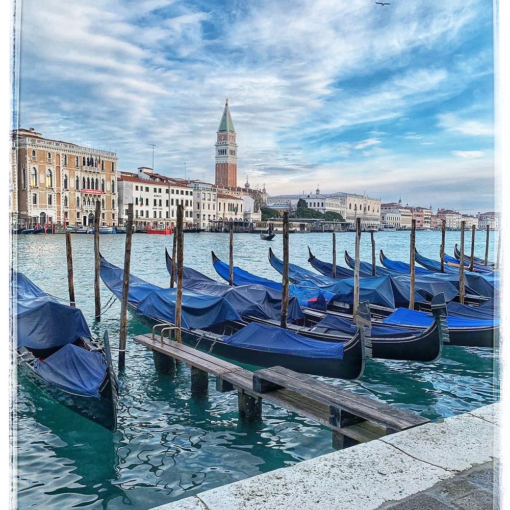 Gondolas in Venice by Susan Leonard