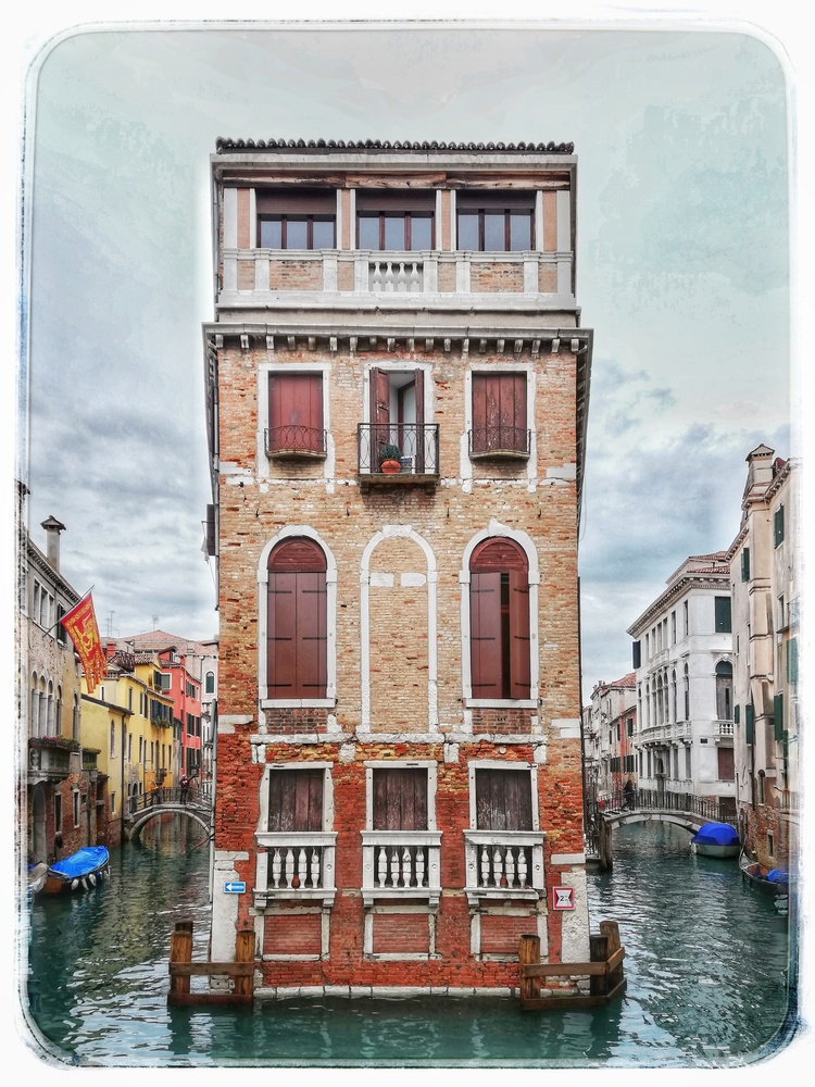 House in the middle of the canal by Susan Leonard
