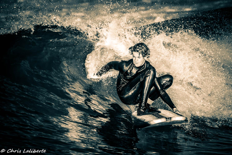 Oside Surfer B/W by Christopher Laliberte