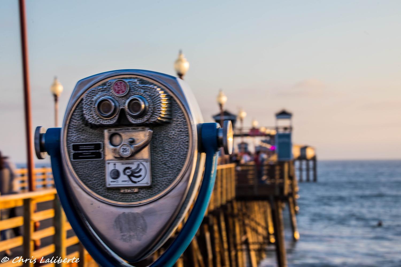 Binoculars at Pier by Christopher Laliberte