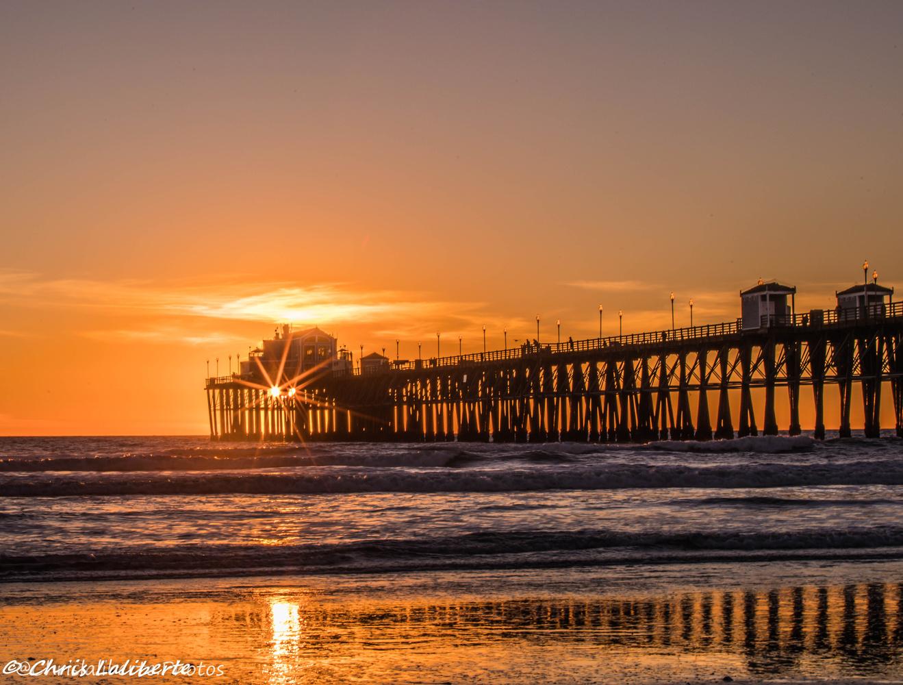 Pier Sunset by Christopher Laliberte