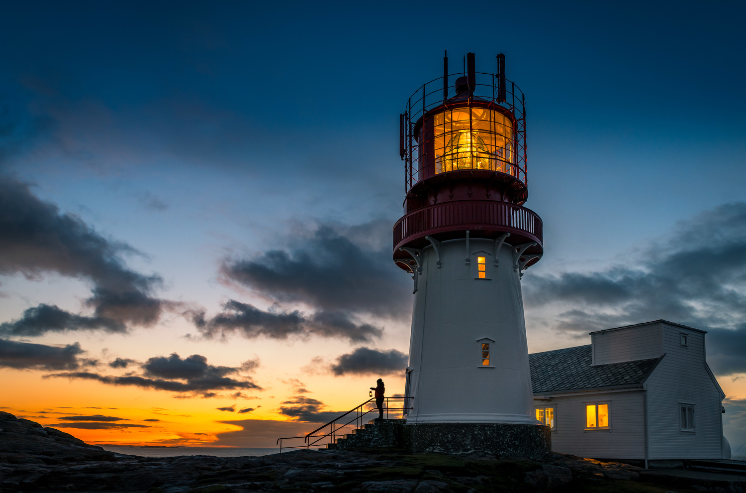 Lindesnes Lighthouse by Rita Holdhus