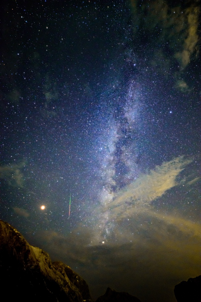 Milkyway & perseus meteor & mars by Masataka Inada