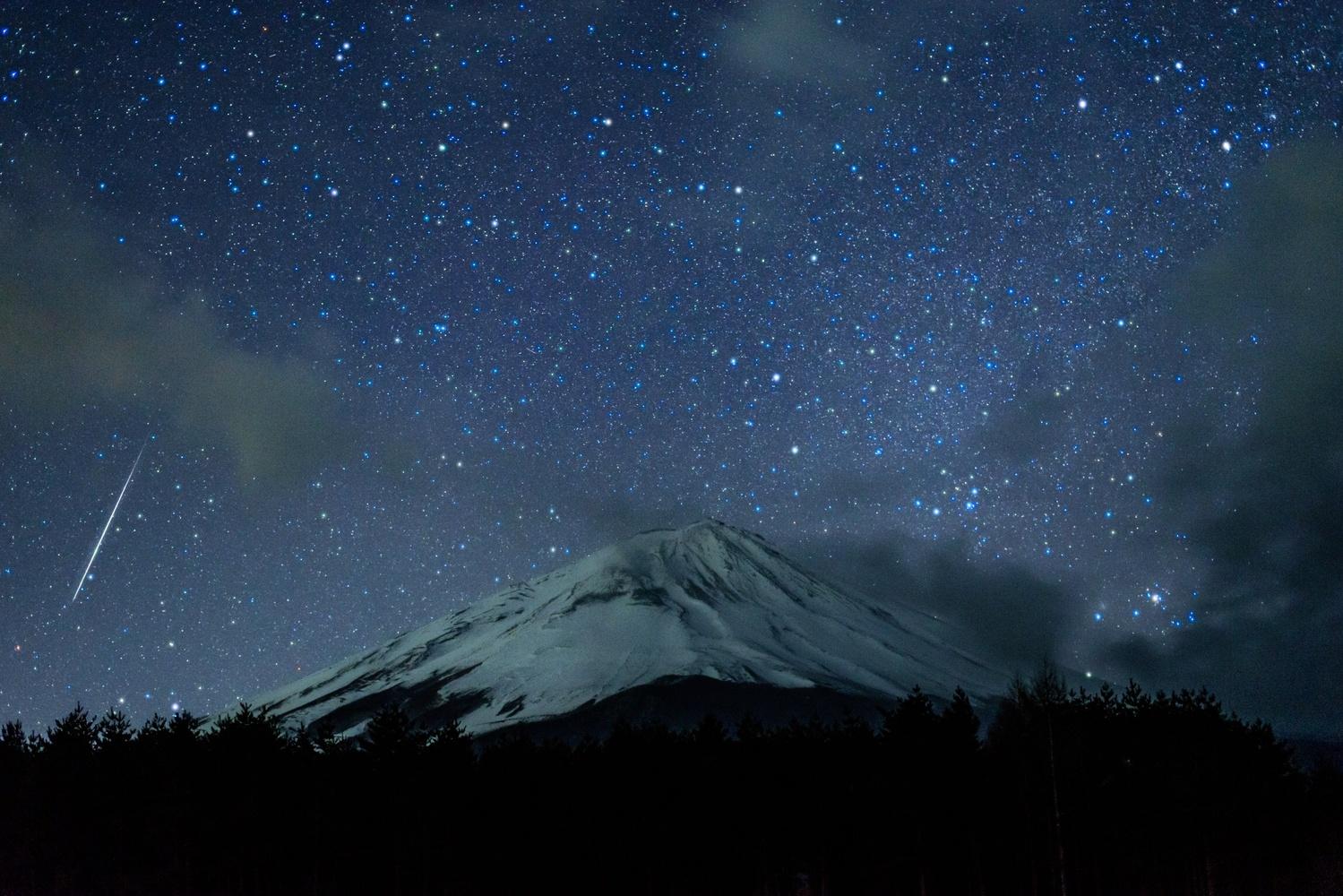 Gemini  meteor in 2018 by Masataka Inada