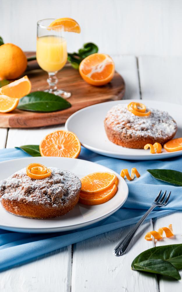 Orange Cakes by David Perman