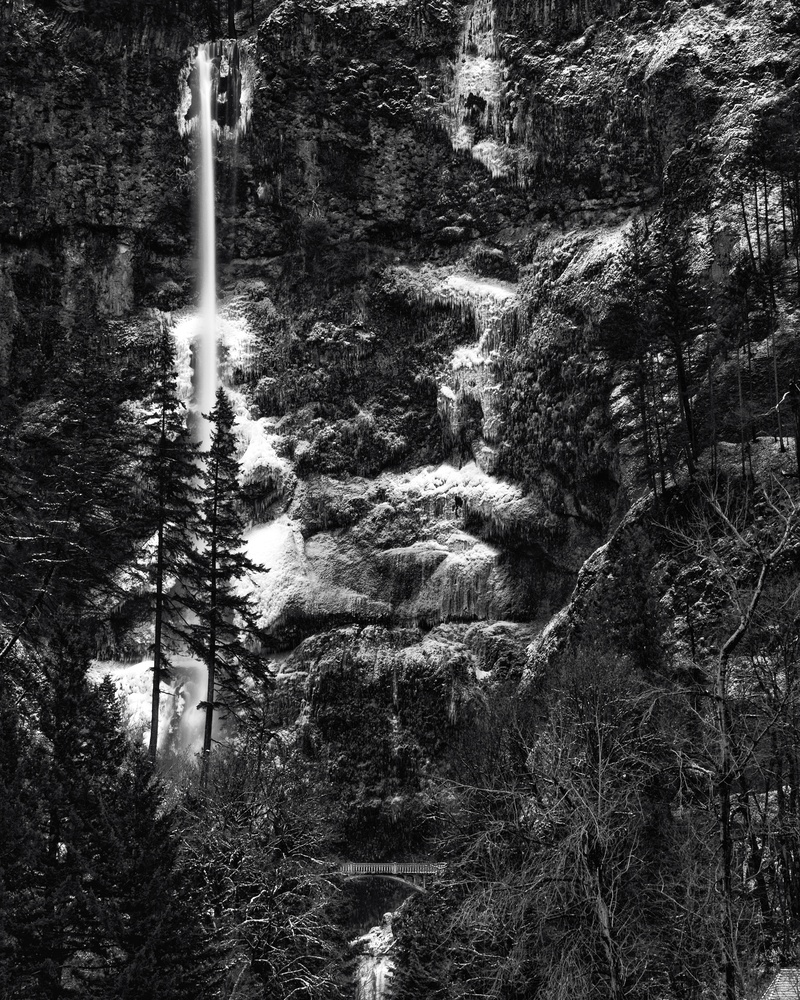 Multnomah Falls in Winter by Zach Deets