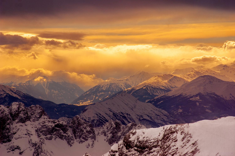 Alpine sunset by Sergey Kosarevsky