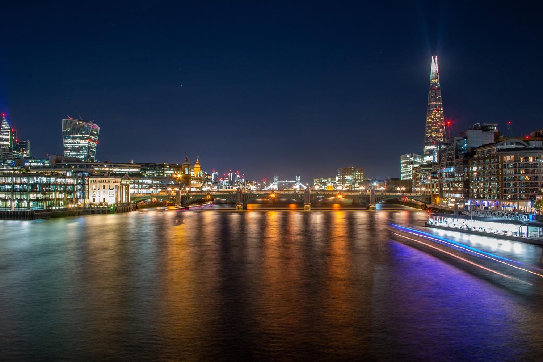 Southwark Bridge and The Shard by Sergey Kosarevsky