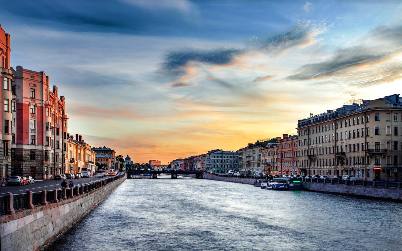 St.Petersburg Sunset by Sergey Kosarevsky