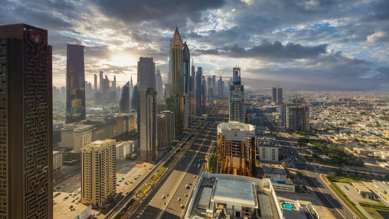 Dubai Skyline by Sergey Kosarevsky
