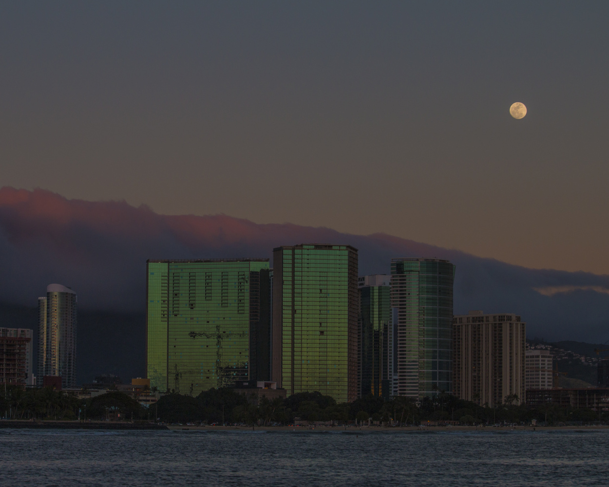 Moon Over Honolulu by Eric DuBois
