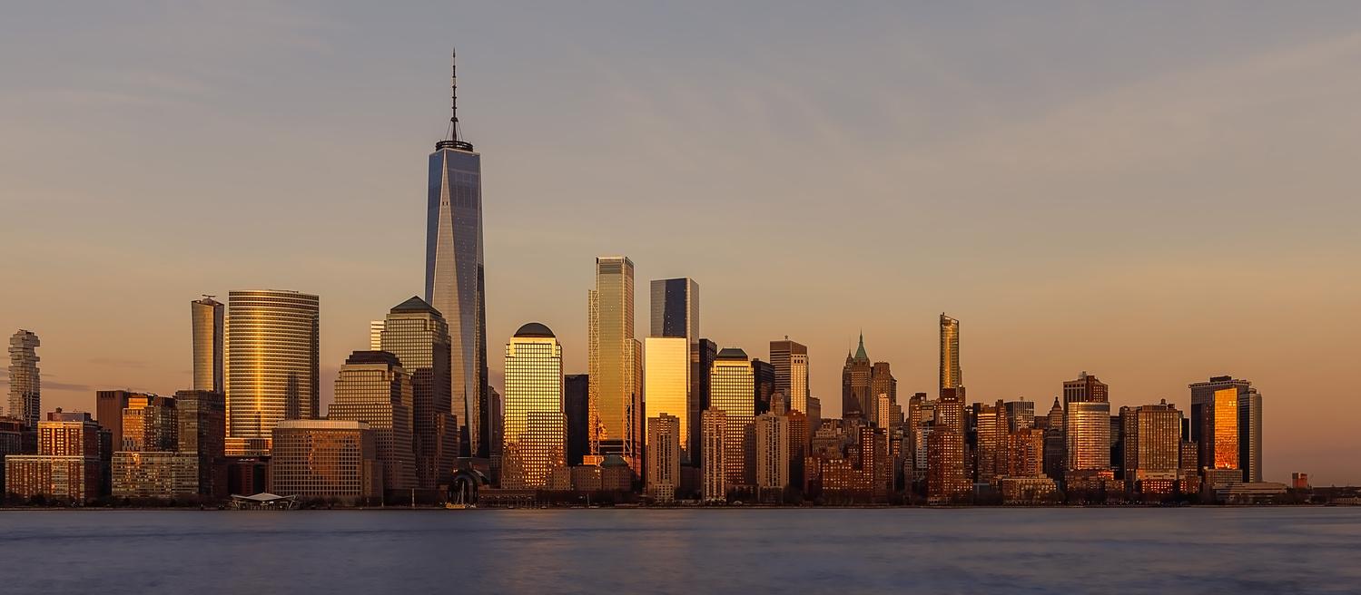 NYC Sunset by Roland Zachau