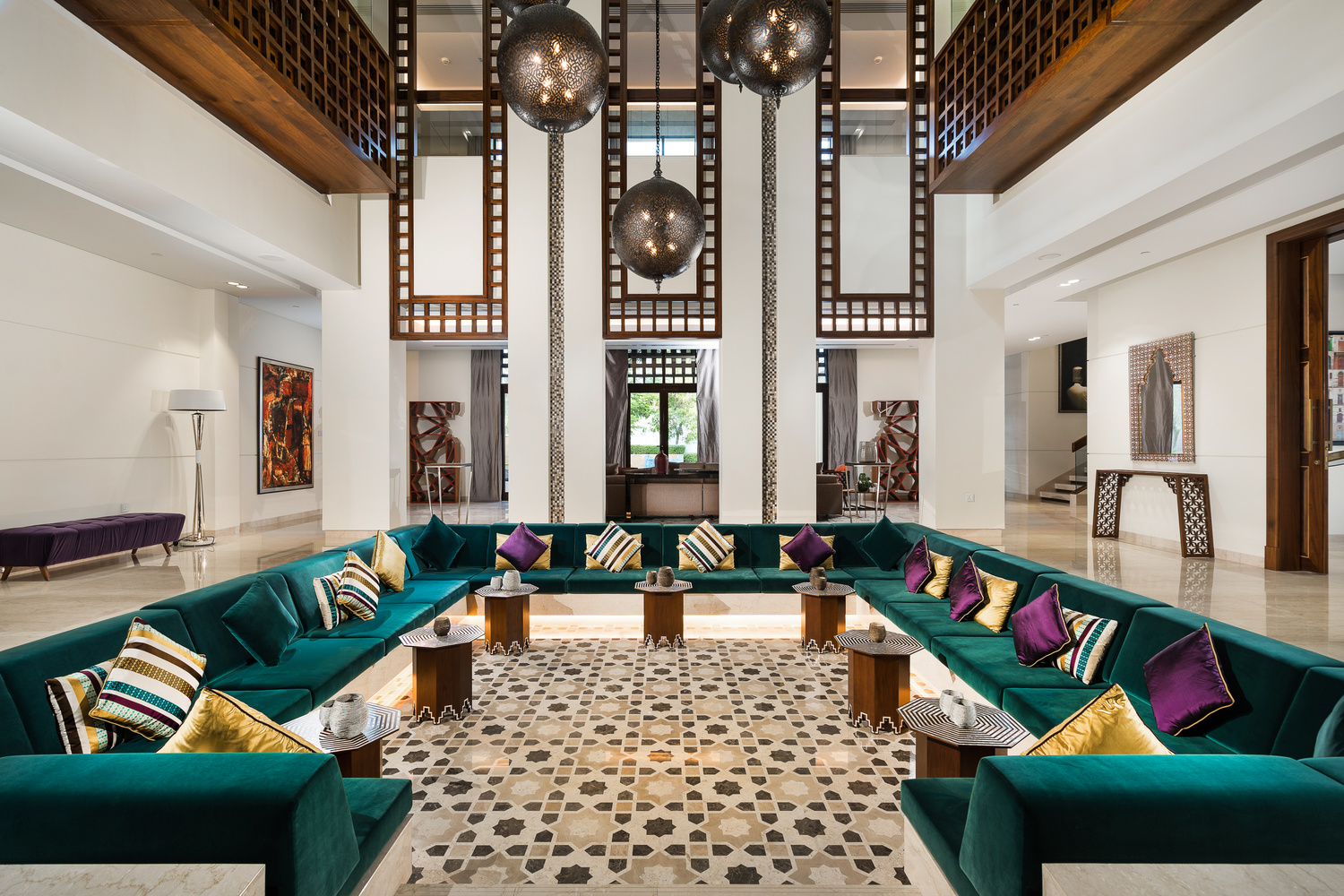 District One Contemporary Arabesque Mansion Lobby by Ben Preece