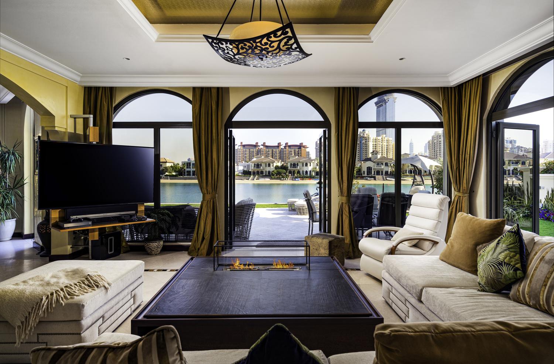 A beachfront home on the Palm Jumeirah. by Ben Preece