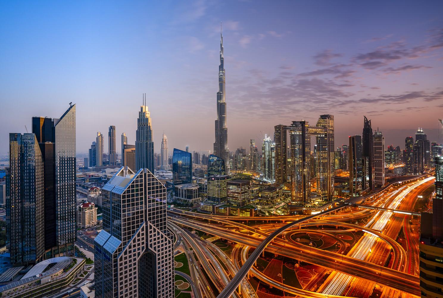 Downtown Dubai Day to Night by Ben Preece
