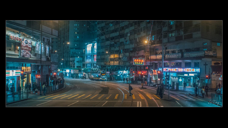 HK at Night by Lei Deng