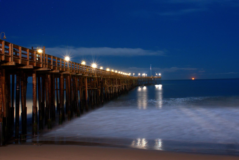 midnight pier by Evan Graves