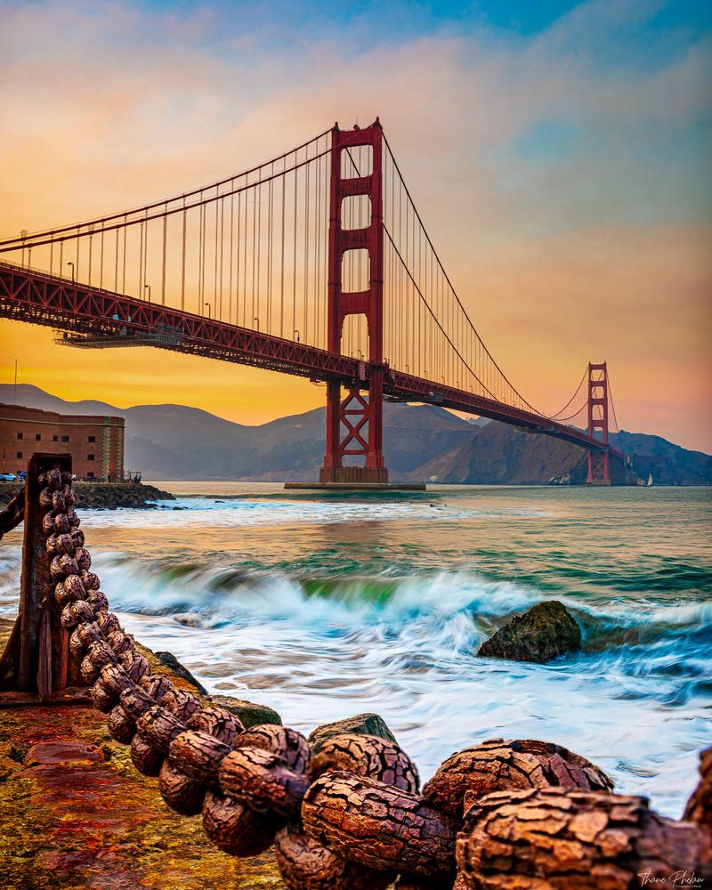 Golden Gate Surf by Thane Phelan