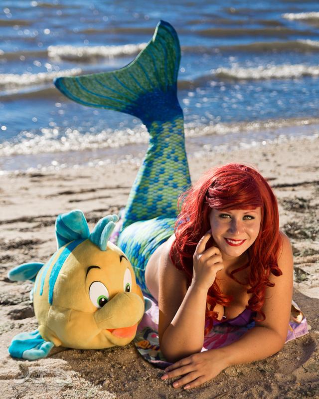 Little Mermaid at the beach by John Sheehan