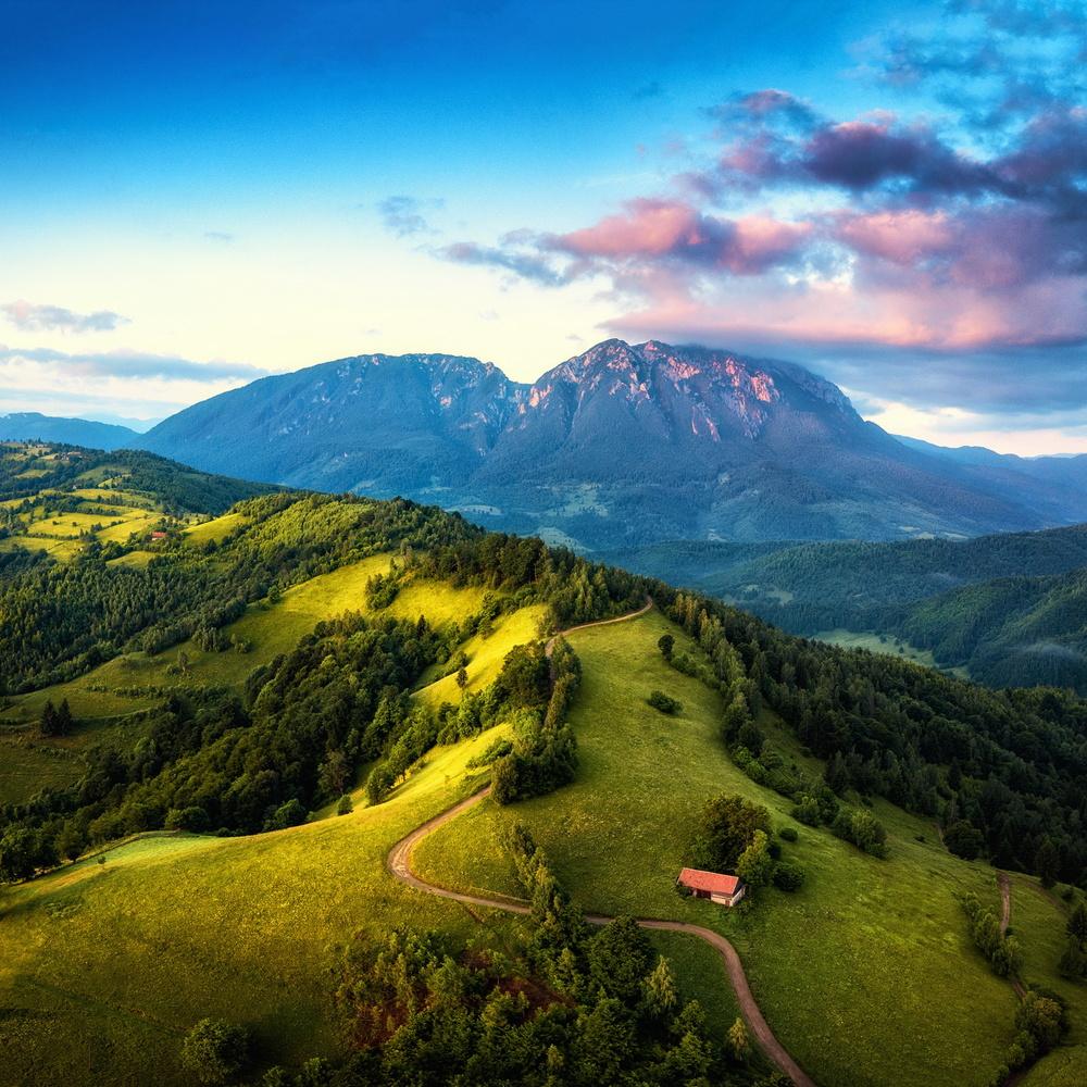 Mornings on the hills by Paulian Prajitura
