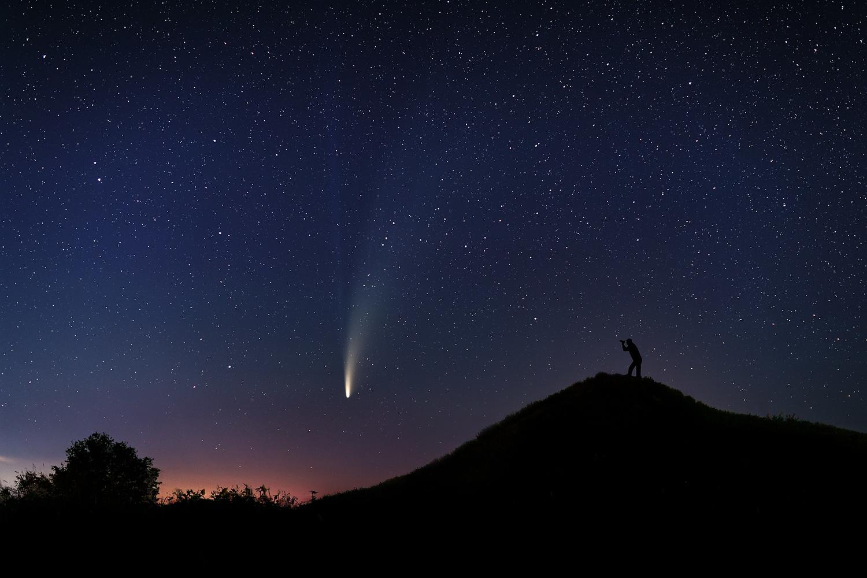 The comet Neowise by Paulian Prajitura