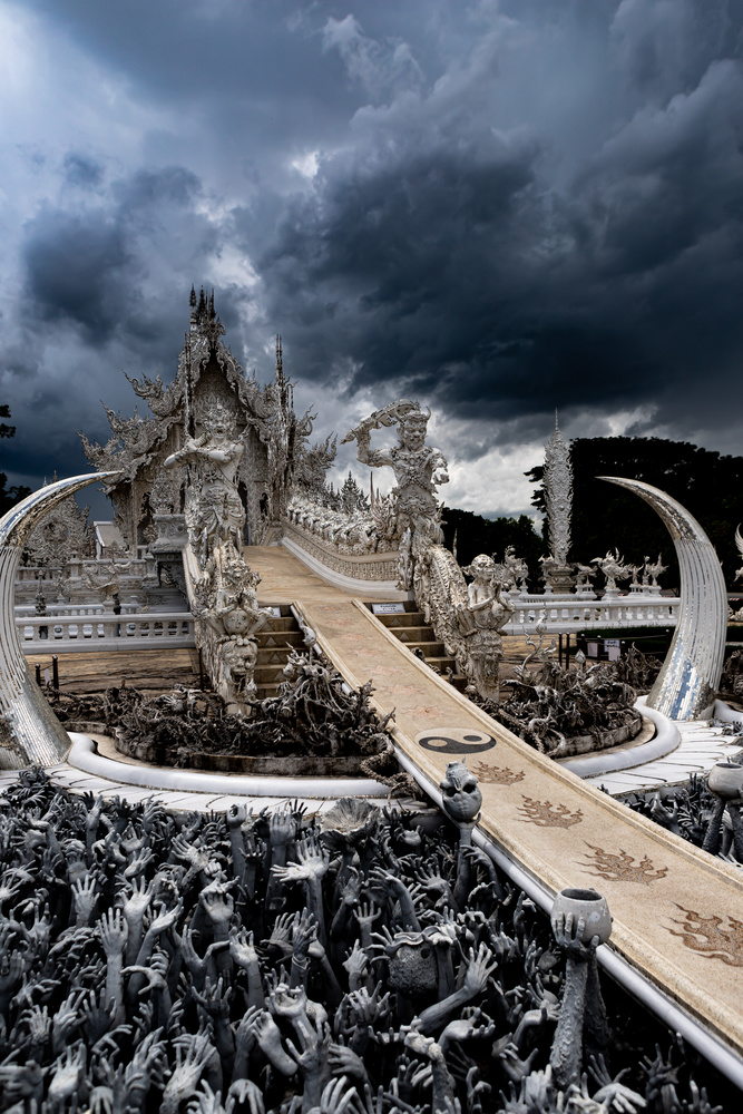 White Temple in Chiang Rai by Stephen Scully