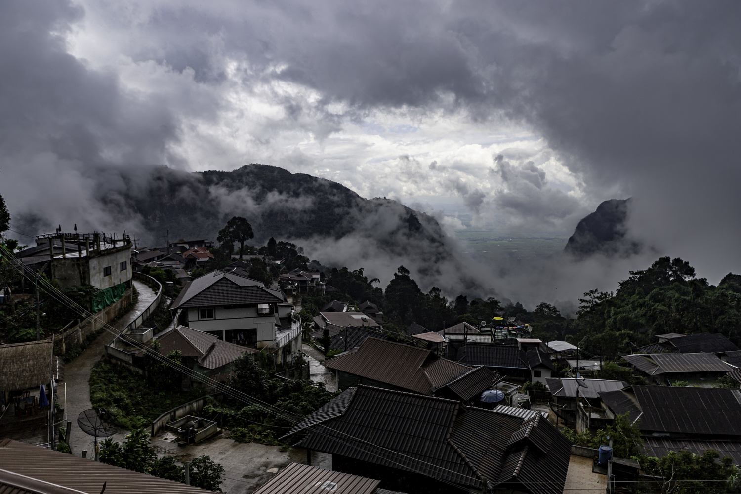 A break in the storm in Pha Hee, Thailand by Stephen Scully