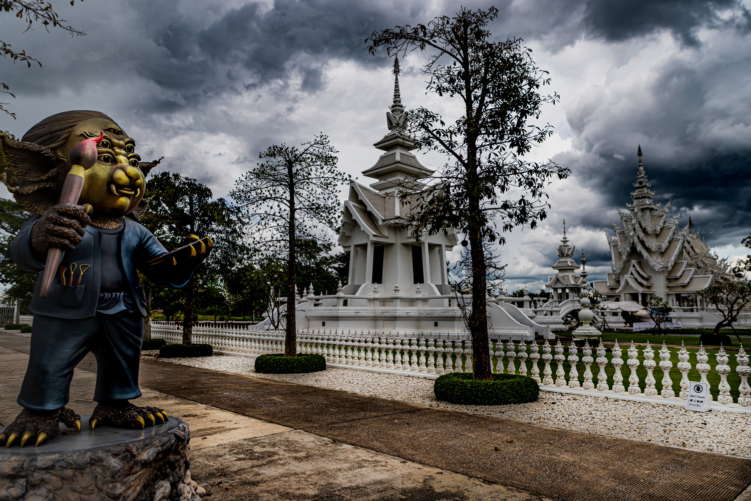 White Temple, Chiang Rai, Thailand by Stephen Scully