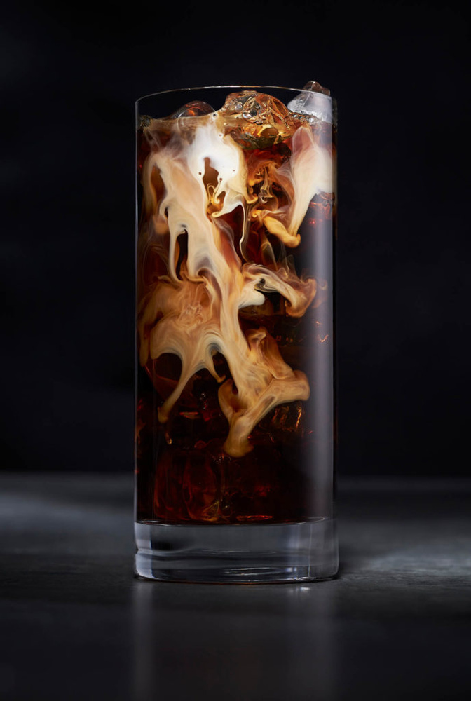 Iced coffee and cream by OMS Photo