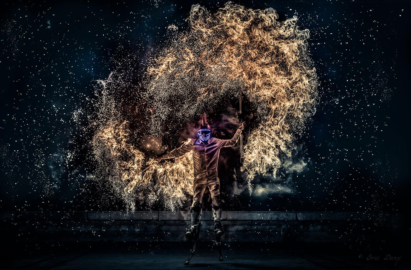 Stilts firewalker by eric dany