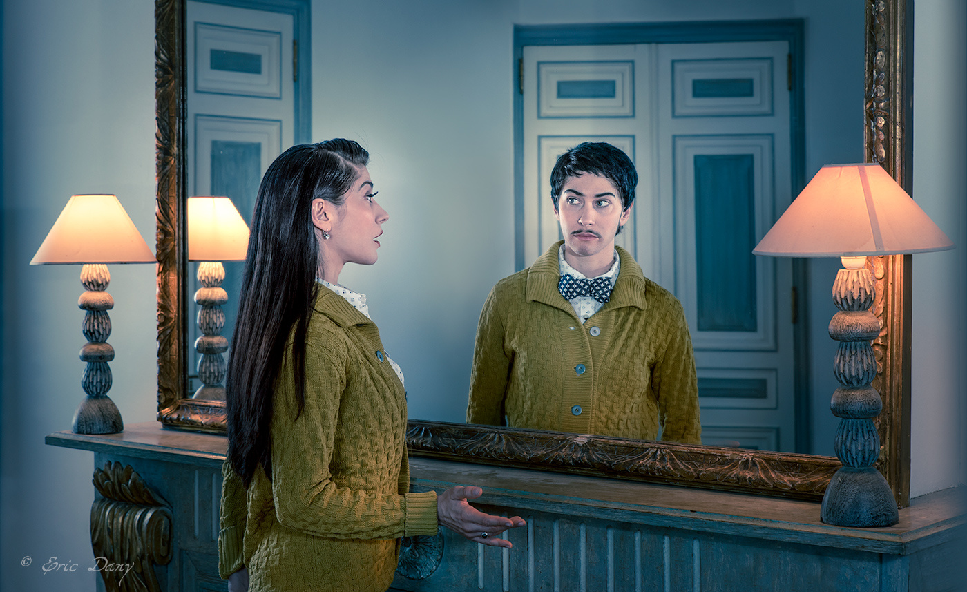 Louise and Louis, the mirror by eric dany