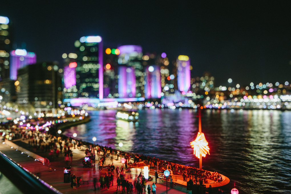 Sydney at night - Little People by Willis Lim