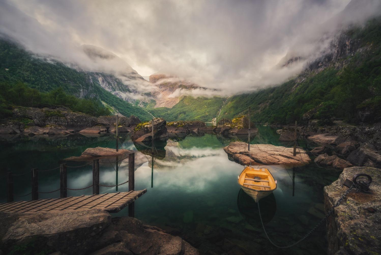 Bondhusvatnet Norway by Hans Strand