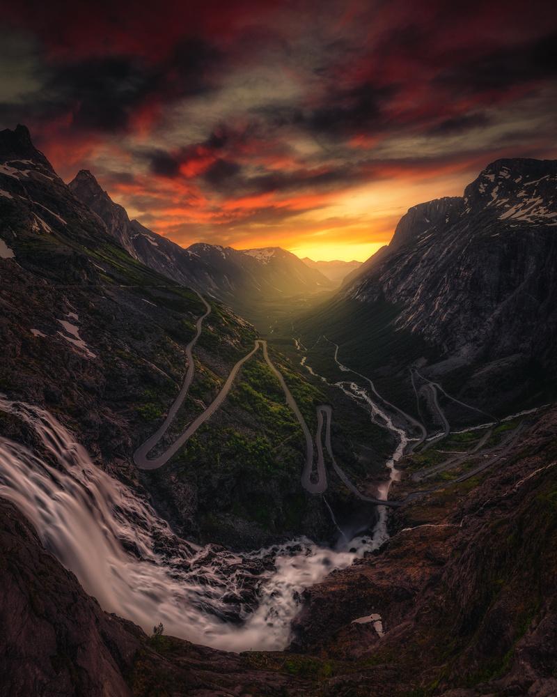 Trollstigen Norway by Hans Strand