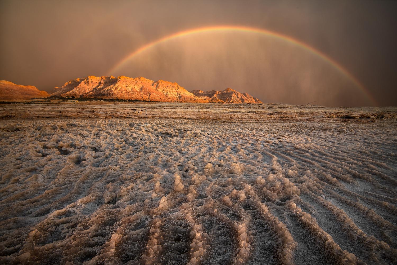 Rain over the dead sea by Idan Livni