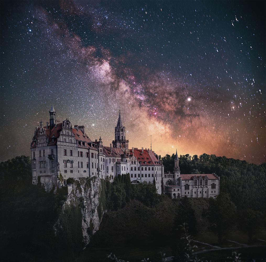 Milkyway over Castle Sigmaringen by Moritz Traber