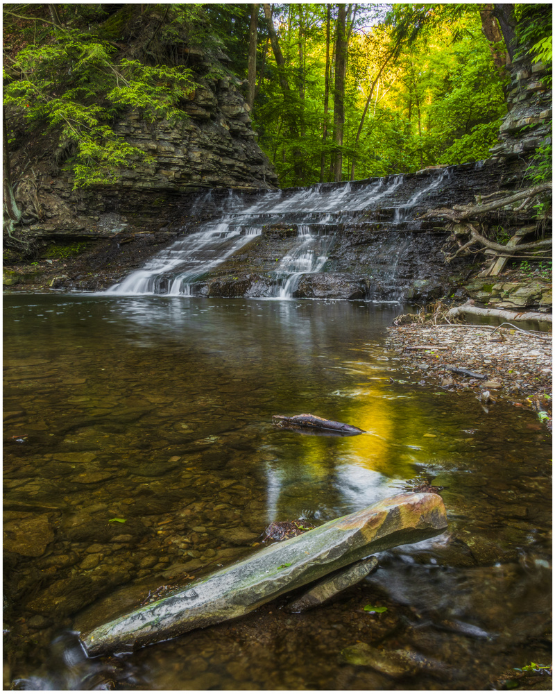Waterfall South Chagrin Reservation by Daniel Frost