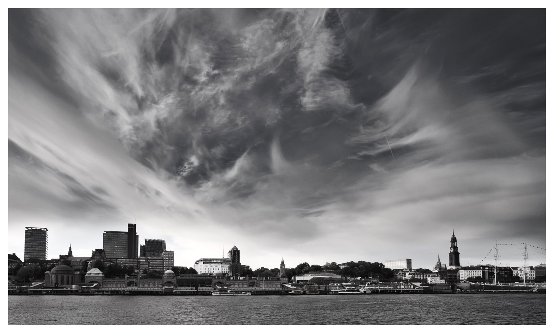 Sky above Hamburg's skyline by Kandid Letters