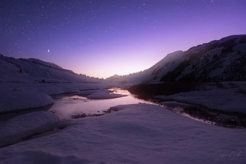 Alpine twilight by Jaspreet Sidhu
