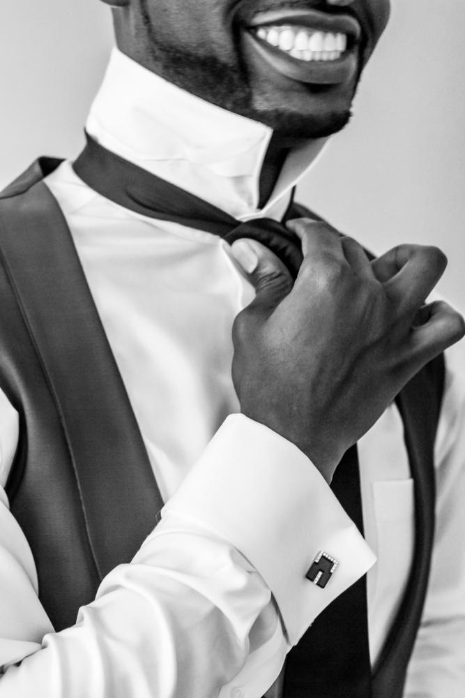 Groom prep pose 2 by Joshua Anderson