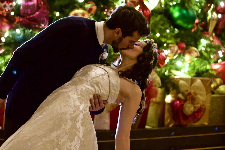 Kansas central station christmas wedding by Joshua Anderson