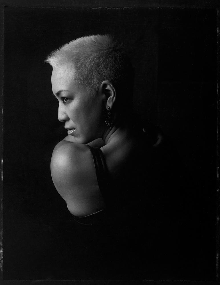 B/W Portrait on Polaroid by Dan Howell