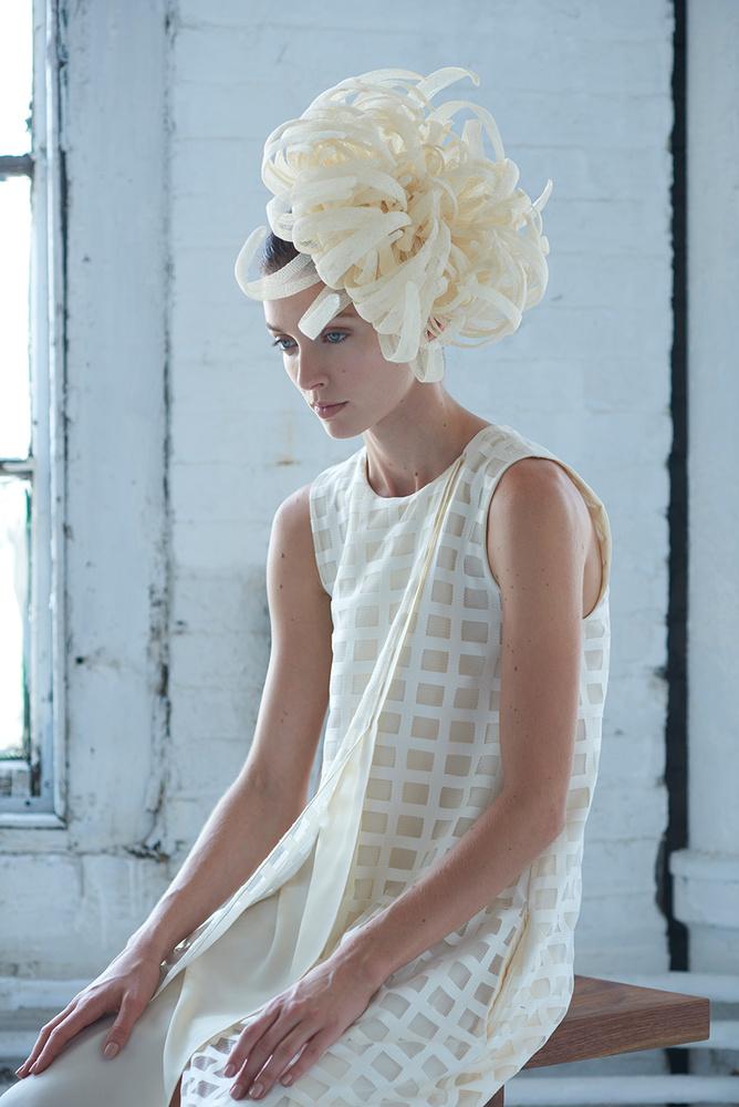 White Fashion Shoot Headpiece by Dan Howell